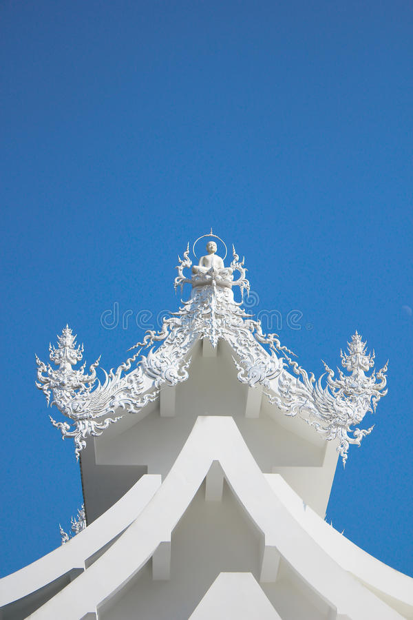 Wat rong khun - the white temple stock images