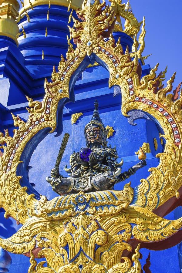 Wat Rong Suea Ten, Chiang Rai, Tail?ndia imagem de stock
