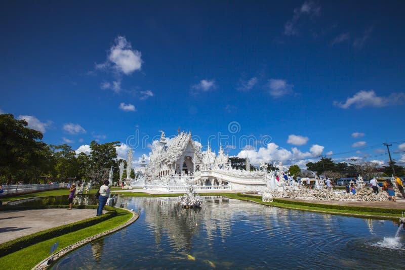Wat rongkhun, Thailand (den vita templet) arkivbild