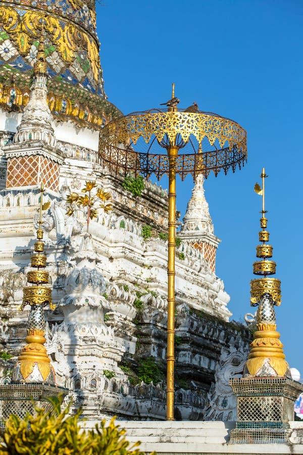 Wat Saen犬齿寺庙在清迈,泰国 免版税图库摄影