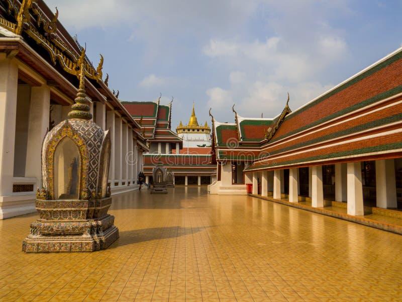 Wat Saket, Bangkok, Thailand. View of the Wat Saket or Golden Mount, Bangkok, Thailand stock images