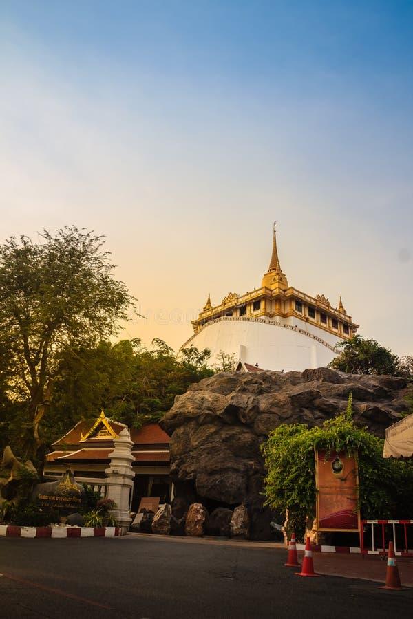Wat Saket Ratcha Wora Maha Wihan (Wat Phu Khao Thong, goldenes MoU lizenzfreie stockfotografie