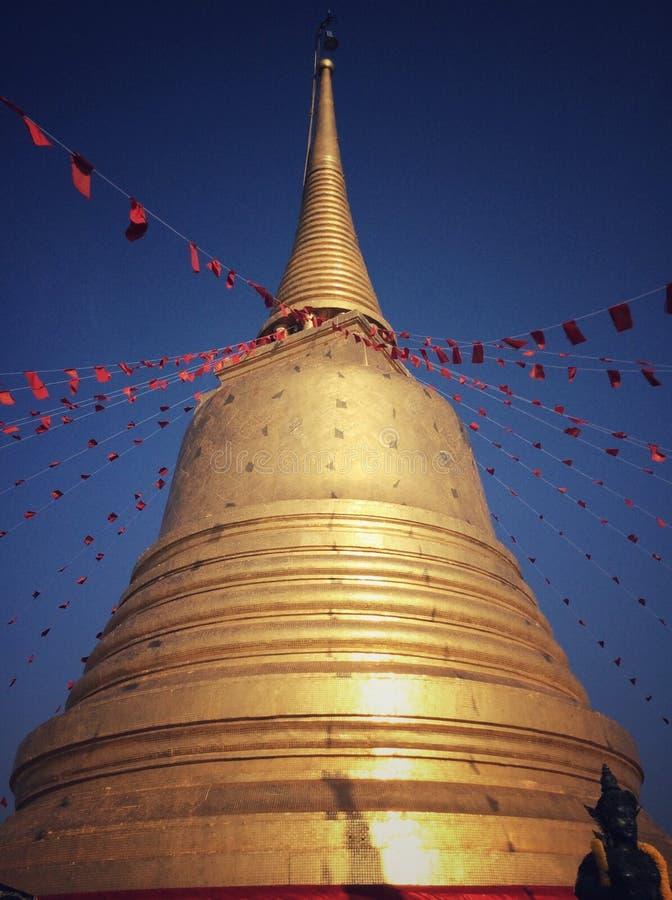 Wat Sakret, Thai temple in Bangkok royalty free stock photo