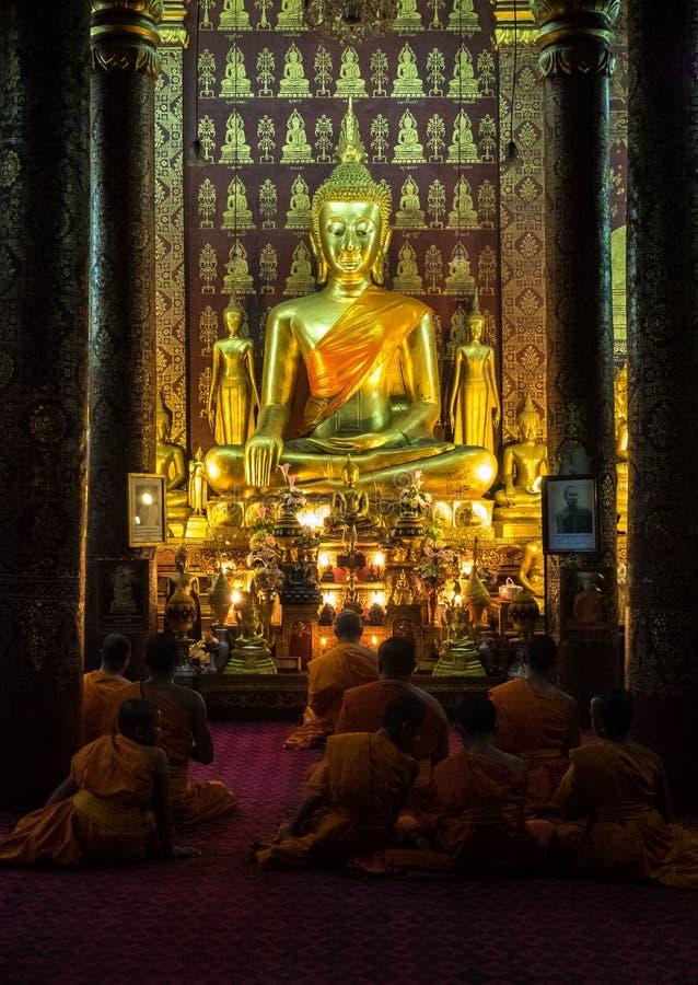 Wat Sensoukharam in Luang Prabang at night in Laos stock images