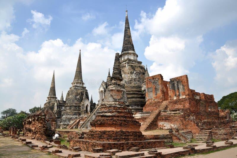 wat si Таиланда sanphet prah ayutthaya стоковая фотография