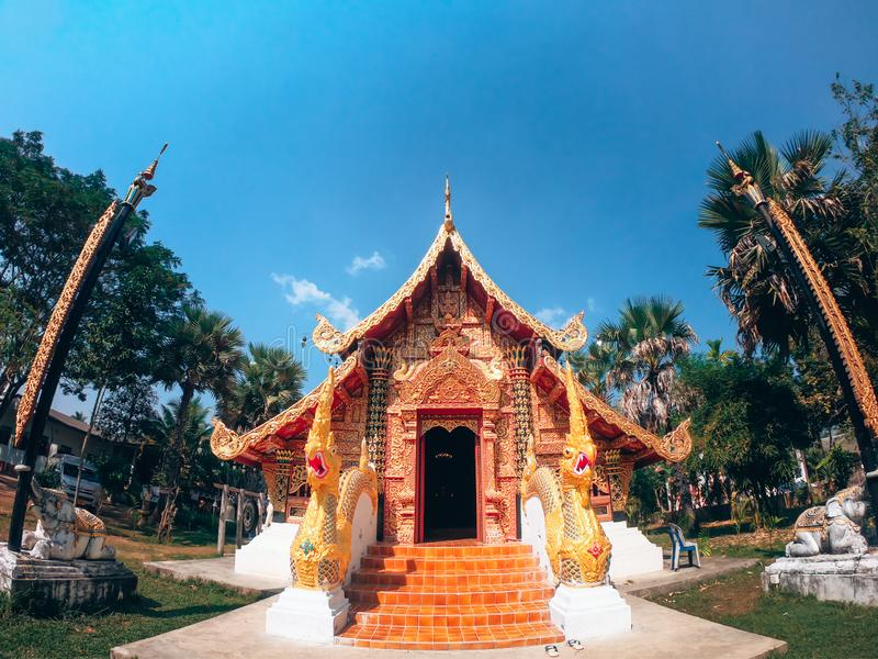 Wat Si Don Chai temple. Of Meahongson in the Thailand stock images
