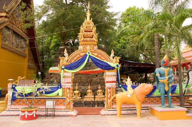 Wat Si Muang lub Simuong jest Buddyjskim świątynią lokalizować w Vientiane kapitał Laos zdjęcia royalty free
