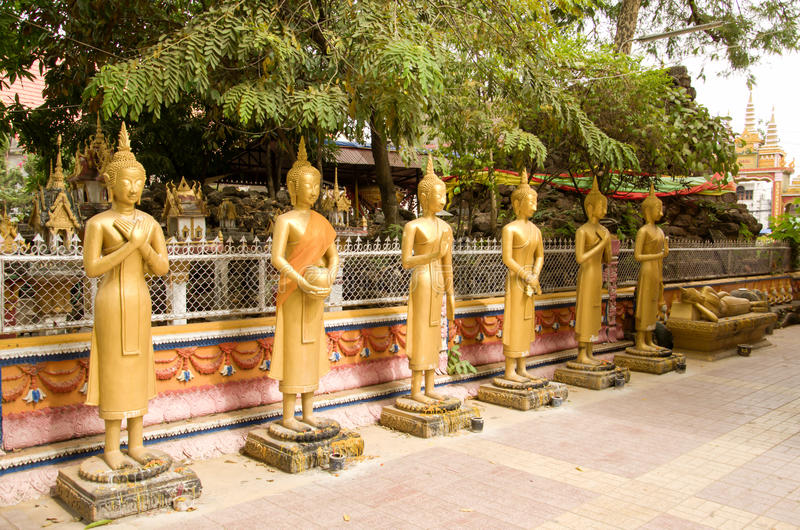 Wat Si Muang lub Simuong jest Buddyjskim świątynią lokalizować w Vientiane kapitał Laos fotografia stock