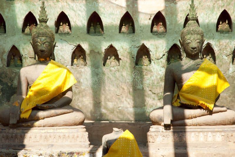 Download Wat Si Saket Buddhas - Vientiane Arkivfoto - Bild av tempel, vientiane: 106827326