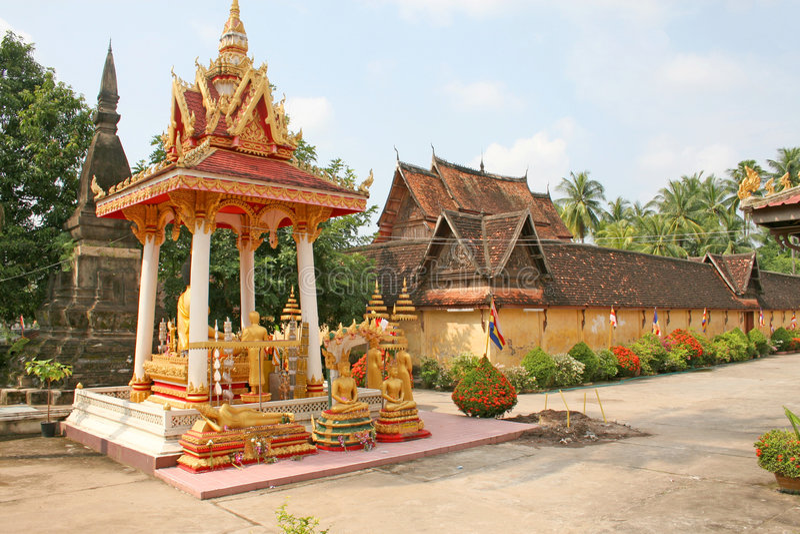 Wat Si Saket, Vientiane photo stock