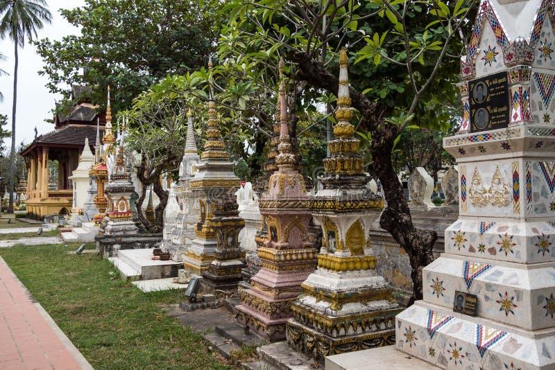 Wat Si Saket w Vientiane mieście, Laos obraz royalty free