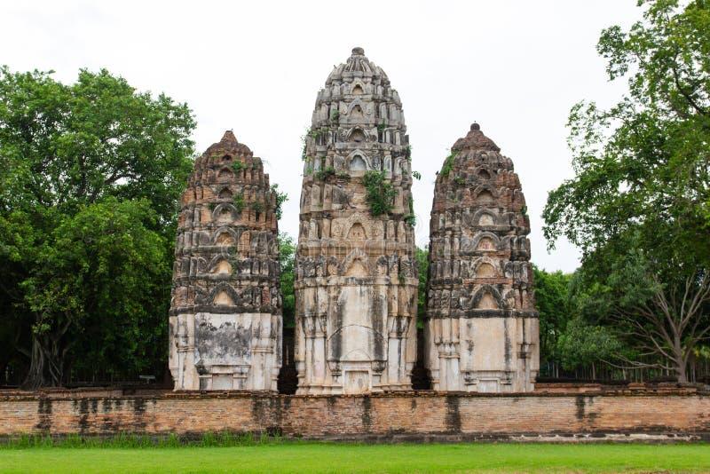 Wat Si Sawai Sri Savaya em Sukhothai TAILÂNDIA imagem de stock