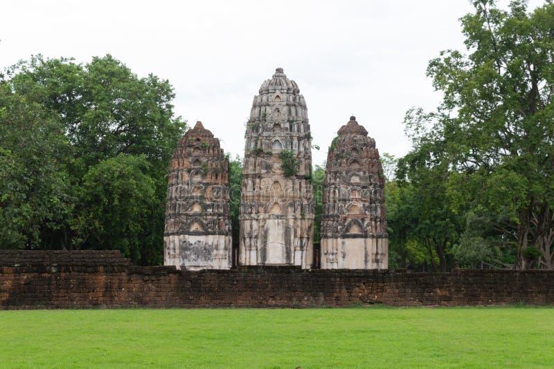 Wat Si Sawai Sri Savaya em Sukhothai TAILÂNDIA imagens de stock royalty free