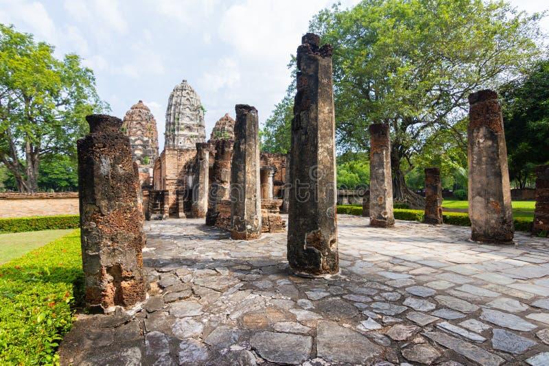 Wat Si Sawai Sri Savaya em Sukhothai TAILÂNDIA imagens de stock