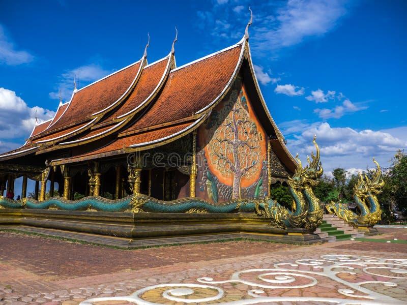 Wat Sirindhorn Wararam, punto di riferimento in Tailandia immagine stock libera da diritti