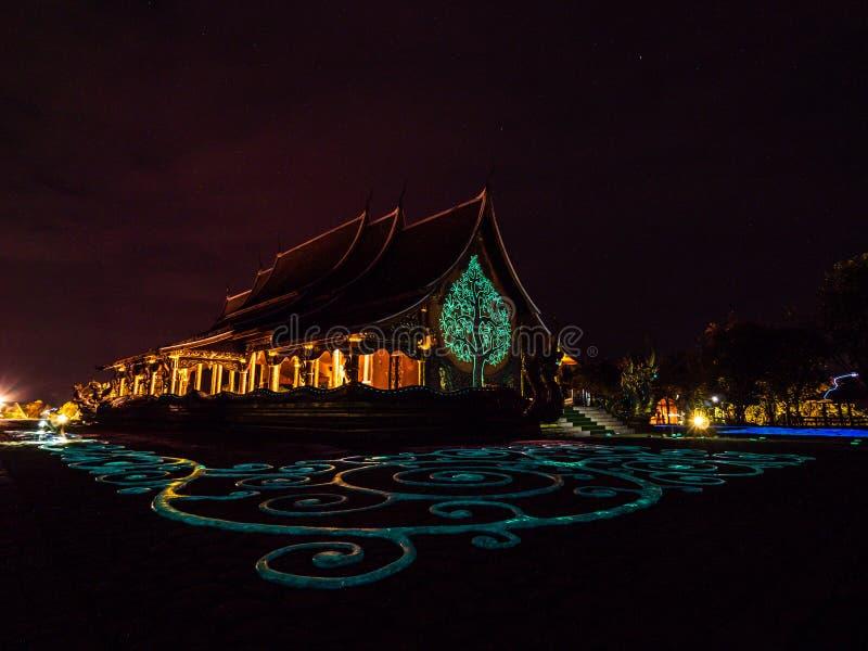 Wat Sirindhorn Wararam, Ubonratchathani, Tailandia foto de archivo