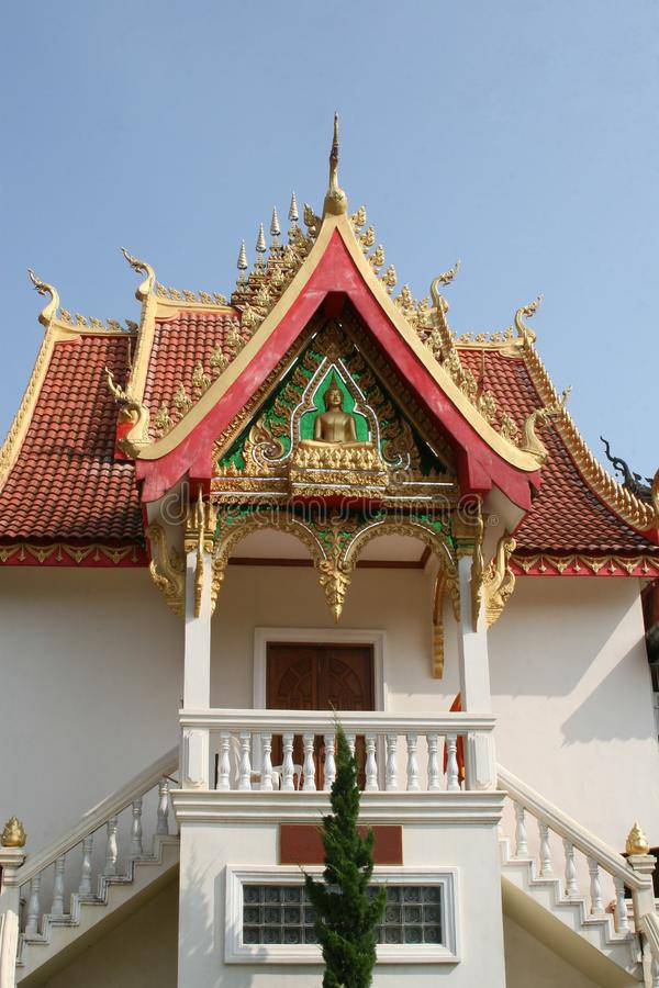 Facade of ancient Wat Sisaket temple in Vientiane in Laos. Old Buddhist temple Wat Sisaket in the city centre of Vientiane in Laos stock photography