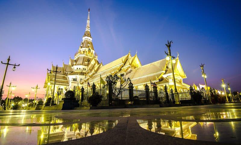 Wat Sothon Wararam Worawihan寺庙在泰国 免版税图库摄影