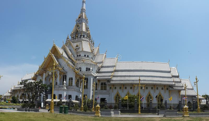 Wat Sothonwararam, Chachoengsao. Cultural Attractions The Thai people believe. Luang Por Sothon Chao Yai stock image