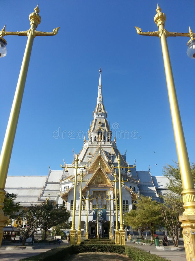 Wat Sothonwararam is a temple in Chachoengsao Province, Thailand. royalty free stock photo