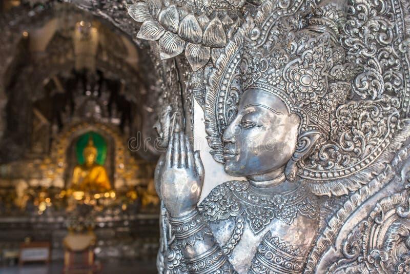 Wat Sri Suphan, el templo de plata famoso en Chiang Mai imagenes de archivo