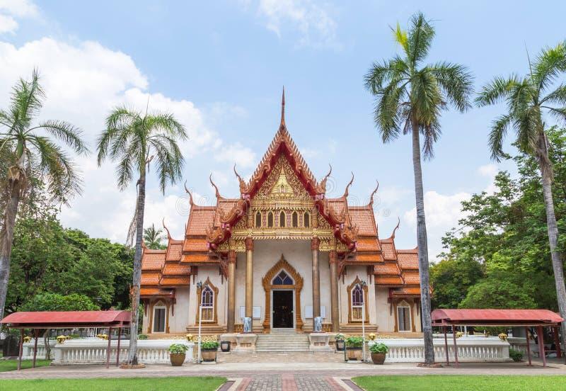 Wat Sri Ubon Rattanaram泰国佛教寺庙在Ubonratchathani泰国 图库摄影