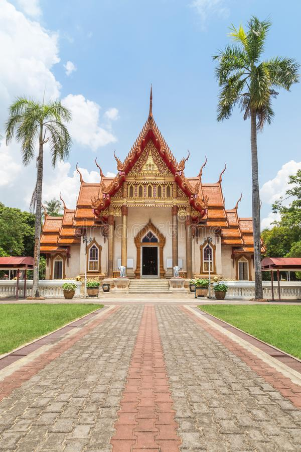 Wat Sri Ubon Rattanaram offentligt thai buddistisk tempel i Ubonratchathani Thailand royaltyfri bild