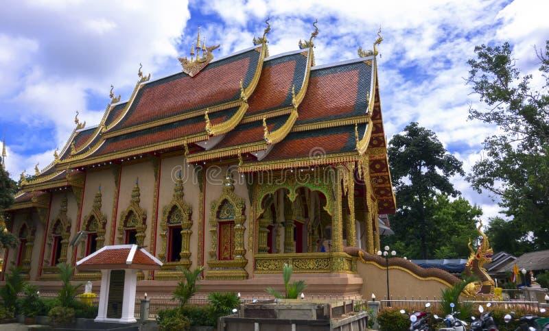 Wat Sriboonruang, Chiang Rai, Thailand. Wat Chiang Yuen - Chiang Rai, Buddhist Temple in Northern Thailand stock photography