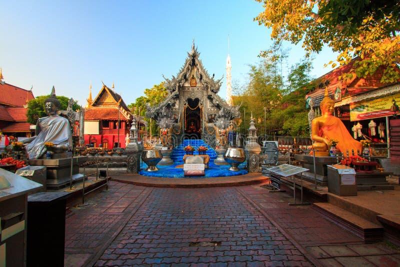 Wat Srisuphan世界` s第一银色教堂 库存图片