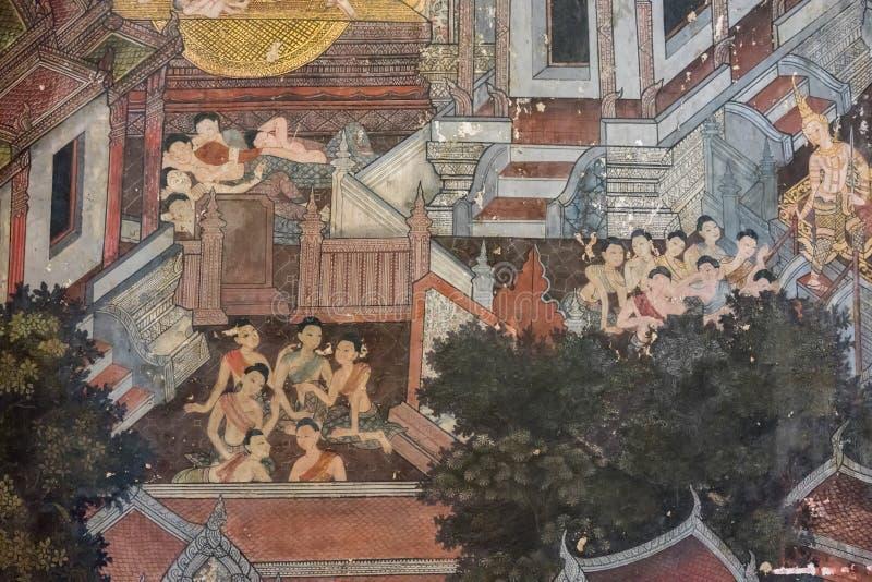 Wat Suthat Thepphawararam Bangkok, Thailand, Oktober 1, 2017 royaltyfri bild