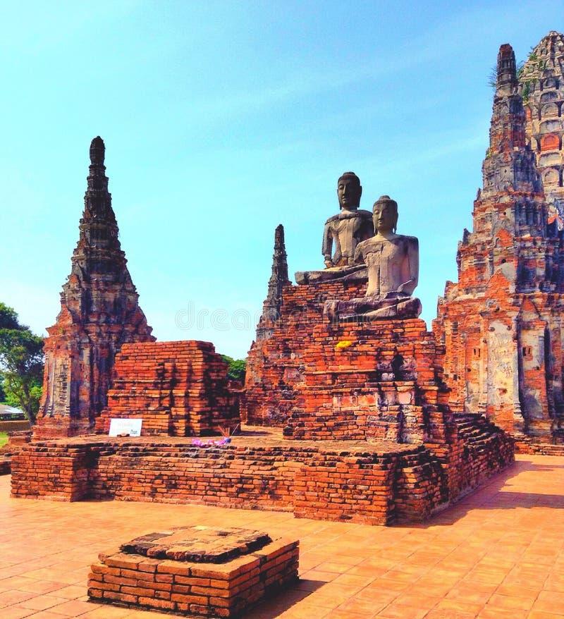 Wat tailandés, Tailandia, ayutthaya, watthai fotografía de archivo
