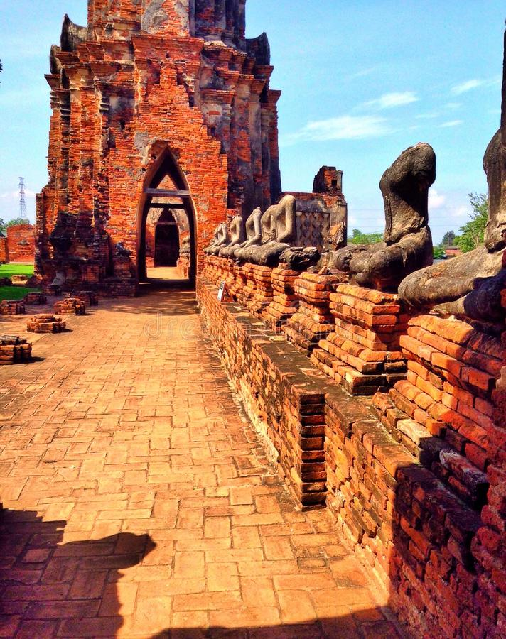 Wat tailandés, Tailandia, ayutthaya, watthai imagen de archivo libre de regalías