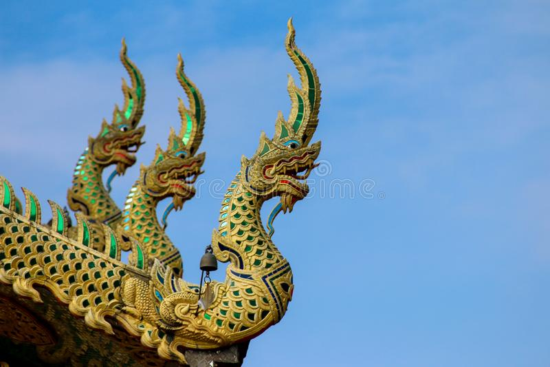 Wat Tha Ngio - buddhistischer Tempel, Lamphun Thailand stockbild