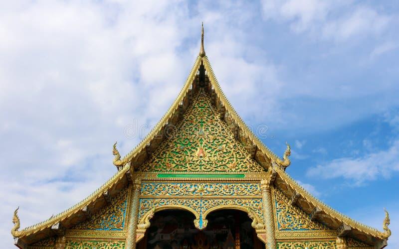 Wat Tha Ngio - temple bouddhiste, Lamphun Thaïlande images libres de droits