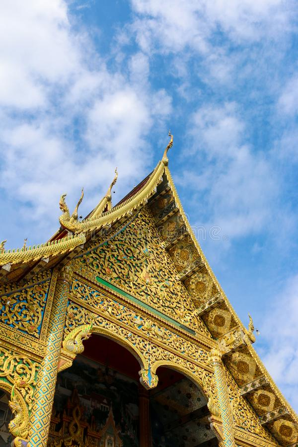 Wat Tha Ngio - temple bouddhiste, Lamphun Thaïlande photo stock