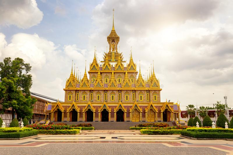 Wat Tha Sung, Wat Tha Sung Attractions van de cultuur van Buddhis stock foto