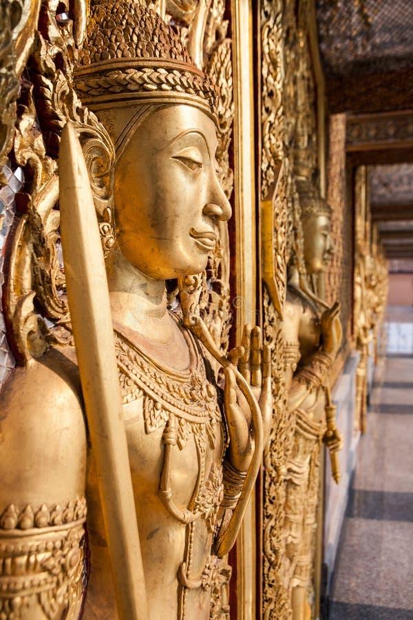 Wat Tha Sung Castle Gold fotografia stock