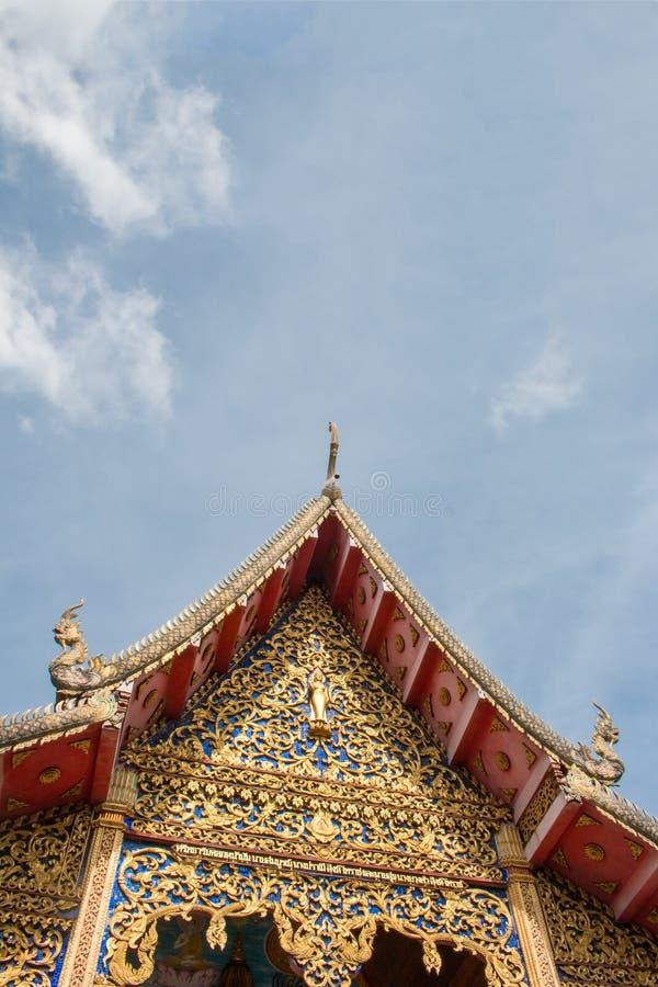Wat Thakham lokaliseras i Chiang Mai, Thailand royaltyfri fotografi