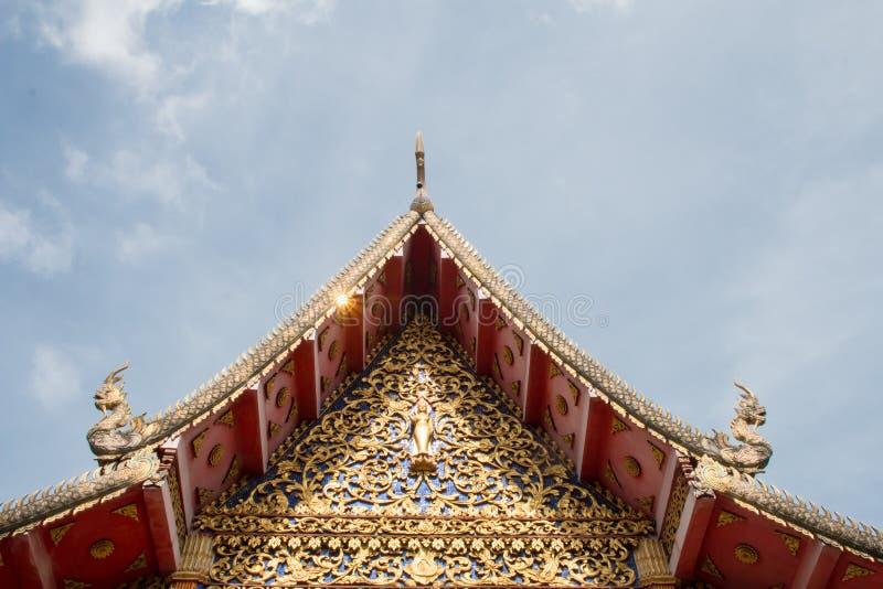 Wat Thakham lokaliseras i Chiang Mai, Thailand fotografering för bildbyråer
