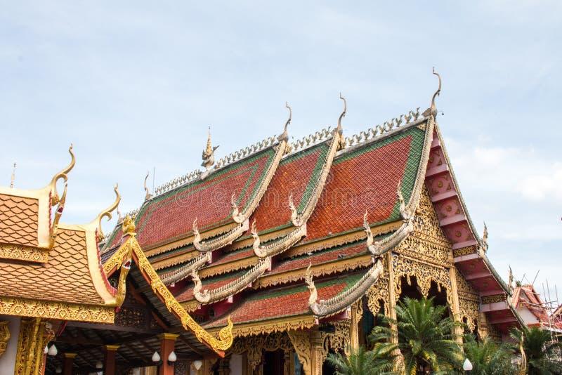 Wat Thakham lokaliseras i Chiang Mai, Thailand arkivfoto
