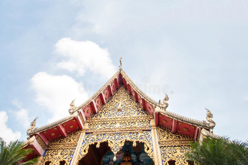 Wat Thakham lokaliseras i Chiang Mai, Thailand arkivbilder