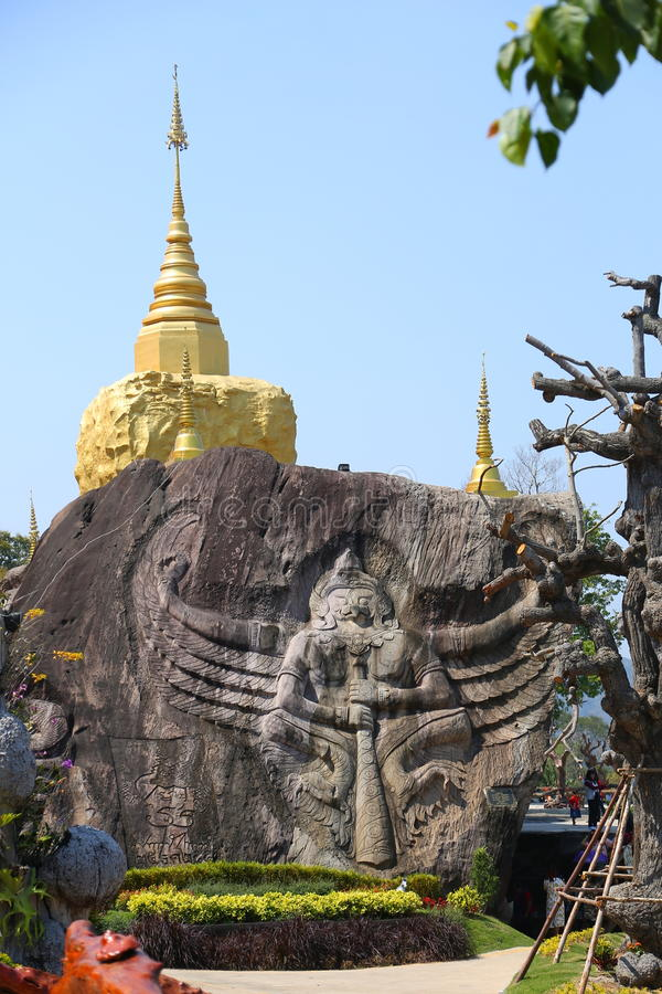 Wat Tham Pha Daen, Sakon Nakhon, Tailandia foto de archivo
