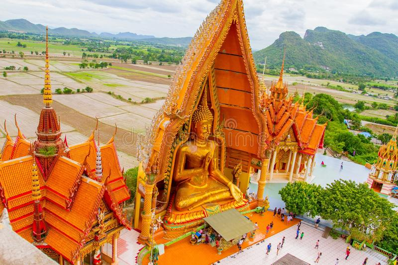 Wat Tham Sua (Tiger Cave Temple) images stock