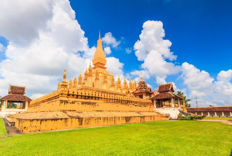 Wat Thap Luang在老挝 免版税图库摄影
