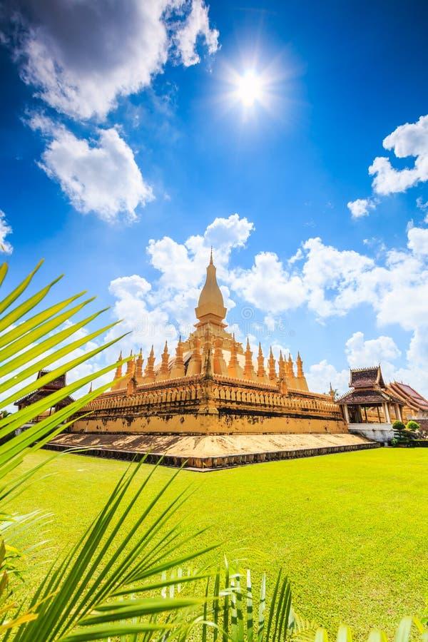Wat Thap Luang in Laos. Wat Thap Luang in Vientiane of Laos stock photography