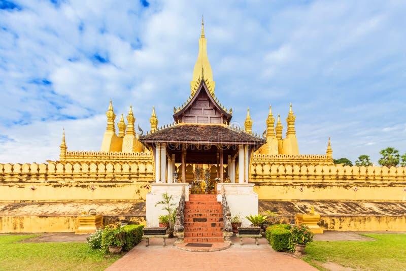 Wat Thap Luang in Vientiane, Laos. Golden Wat Thap Luang in Vientiane, Laos stock images