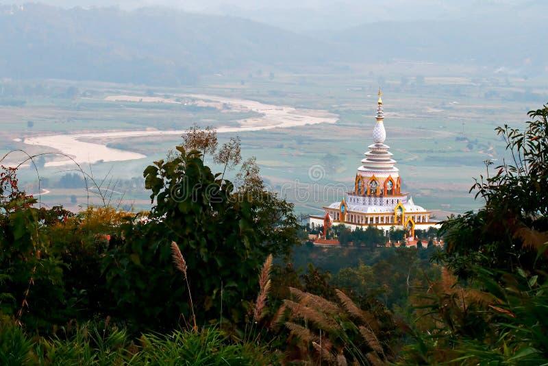 Wat Thaton寺庙在清迈府 免版税图库摄影