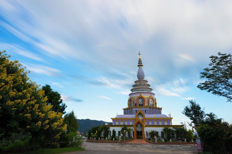 Wat Thaton Thaton寺庙在清迈 库存图片
