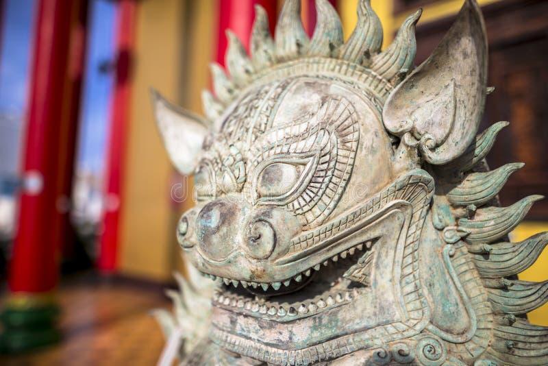 Wat Thawon Wararam är härlig och fridsam ställe ett kloster, i Hat Yai Songkhla Thailand arkivfoton