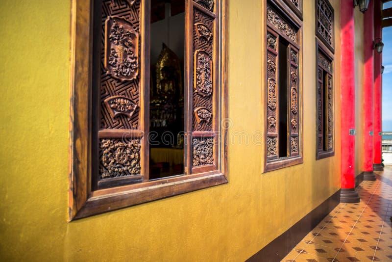 Wat Thawon Wararam är härlig och fridsam ställe ett kloster, i Hat Yai Songkhla Thailand royaltyfri foto